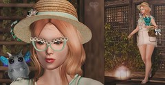 ♚ 374 ♚ (Luxury Dolls) Tags: cute sweet flower yokai spellbound belleepoque event gacha outfit rare dress hat shoes store thechapterfour gardenday thecoven animals nevariver