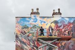 Will Barrass and Xenz at the Masonic Arms (CarolynEaton) Tags: upfest art street bristol mural xenz willbarrass