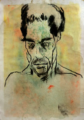 (Alemwa) Tags: alemwa berlin kreuzberg zeichnen zeichnun g kohle sketch sketching portrait human meschlich ausdruck gefühl grief trauer