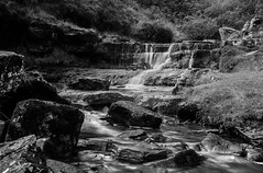 Water & Stone (selvagedavid38) Tags: black white waterfall river stream rocks water flow brecon beacons neutral density filter wales