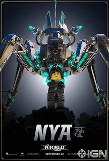 The LEGO Ninjago Movie character poster Nya