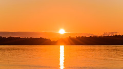 Sunrise Waterscape over the Bay (Merrillie) Tags: view woywoy color nature australia sun dawn weather newsouthwales light brisbanewater nsw scene water scenery coastal sunrays coast scenic daybreak sky waterscape sunrise centralcoast landscape bay