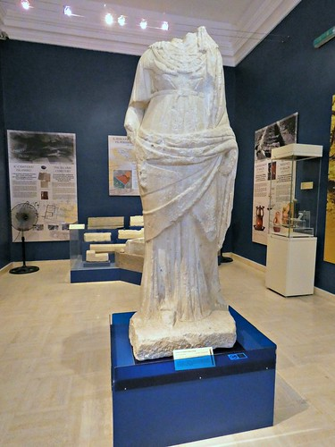 Statue of a draped female figure