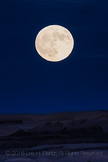 Full Moon over the Bisti Badlands