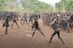 Surma tribe raging on (martien van asseldonk) Tags: earthasia martienvanasseldonk donga stickfighting koka surma
