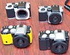 Pentax k0-1 4 colours (pentaxgearpics) Tags: equipmentobjects bodies camera generalequipment k01 pentax
