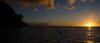 Na'Pali Low (Garden State Hiker) Tags: kauai beach landscape sunset pacificocean keebeach sky goldenhour hawaii haenastatepark clouds