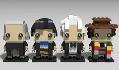 Lego Dr Who - 1st to 4th (fxandrw) Tags: drwho doctorwho williamhartnell johnpertwee patricktroughton tombaker sylvestermccoy mattsmith davidtennant petercapaldi christophereccleston peterdavidson paulmcgann colinbaker lego brickheadz johnhurt timelord
