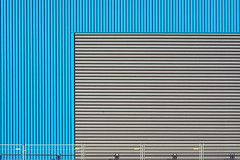Blue and grey wall and fence (Jan van der Wolf) Tags: map160138v wall muur fence hek hekwerk lines lijnen lijnenspel interplayoflines playoflines blue grey blauw grijs minimalism minimalistic