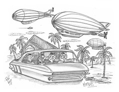 Hardas (rod1691) Tags: bw scifi grey concept custom car retro space hotrod drawing pencil h2 hb original story fantasy funny tale automotive art illistration greyscale moonpies sketch