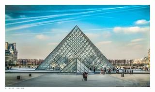 Pyramid, Louvre, Paris, France.