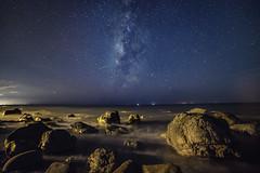 枋山~海的銀河~ Milky Way above Sea (Shang-fu Dai) Tags: 台灣 taiwan formosa 屏東 枋山 銀河 milkyway nikon d800e samyang14mmf28 landscape 天空 galaxy 戶外 海 sea 岩石 456k