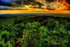 Late Summer Sunset (Tom Mortenson) Tags: geotagged wisconsin ribmountain marathoncounty wausau statepark ribmountainstatepark sunset dusk summer sky clouds usa midwest america northamerica canon 24105l canon6d canoneos wisconsinstatepark hdr tonemapping photomatix sun centralwisconsin twilight picturesque