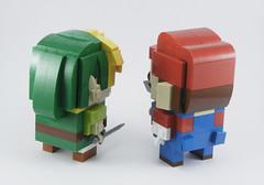 Link & Mario 2 (Mr. Brickman) Tags: mario link zelda nintendo lego brickheadz