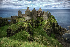 Dunlace Castle (marko.erman) Tags: ruins ancient old castle monument architecture dunlace ireland popular travel outside sky skyscape contrast pov ciel dramatic countyantrim grass lichen moss green landscape sea