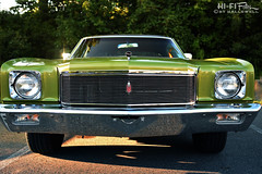 1971 Monte Carlo (Hi-Fi Fotos) Tags: 1971 chevrolet chevy montecarlo firstgen american classiccar gm 70s green grille face chrome nikon d7200 dx 1755 28 hififotos hallewell