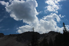 The afternoon rain storms start to form (rozoneill) Tags: lassen volcanic national park chaos crags crag lake manzanita wilderness hiking california redding