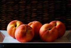 Peaches (Cassidy Walker) Tags: food peach contrast fruit stilllife 15challengeswinner friendlychallenges