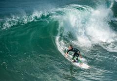 Racing the Crest - Explore (Ron Drew) Tags: nikon d800 california huntingtonbeach surfcity usa surfer wave crest pacificocean pacific summer sport athlete board guy wet