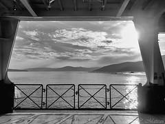 170829-26 En traversée (clamato39) Tags: îleauxcoudres provincedequébec québec canada boat bateau noiretblanc blackandwhite bw monochrome ciel sky clouds nuages