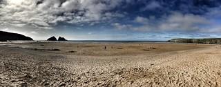 Hollywell beach Cornwall