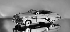 1949 Buick Roadmaster (PrunellaCara) Tags: 7dwf modelcar buick blackwhite mono stilllife object