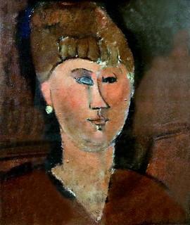 IMG_2552B Amedeo Modigliani. 1884-1920. Paris. La ragazza rossa.    The red girl. 1915  Turin Galleria d'Arte Moderna e Contemporanea