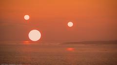 Tatooine? (H.Roebke) Tags: autumn de canon100400mmf4556lisiiusm sylt sunset sonne sonnenuntergang germany multipleexposure 2016 nordsee herbst mehrfachbelichtung northsea canon7dmkii lightroom orange