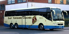 East Yorkshire Coaches 88 39 EYD leaves Anlaby Rd Depot, Hull on Saturday private hire duties (Gobbiner) Tags: volvo 88 eyms prestigeplus 9700 eastyorkshirecoaches hull 39eyd finglands yx59fuo