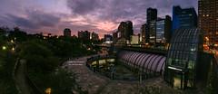 大安夕景 Daan Forest Park, Taiwan _IMAG0142 (阿Len) Tags: daanforestpark mrt taipei taiwan 大安森林公園 捷運 台北捷運 夕陽 泰利颱風 全景圖 panorama 手機拍攝 u11 htc sunset