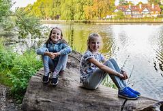 Grace and Etti (philbarnes4) Tags: grandchildren marlow thames river water fresh dslr nikond5500 philbarnes buckinghamshire england unitedkingdom