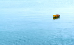 Adrift (jactoll) Tags: moelfre anglesey wales sea irishsea boat blue adrift alone sony sony2470mmf28gm a7ii jactoll