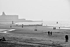 Misty Beach day.... (rienschrier) Tags: mist fog water nederland zeeland flushing beach streetlife badstrand strand vlissingen