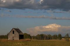 Extended storm season (Len Langevin) Tags: abandoned old house farm building storm thunder sky clouds alberta canada prairie nikon d300 nikkor 18300