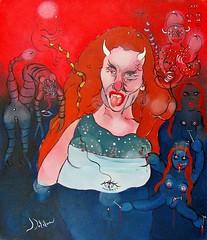 LUCIE (Claude Bolduc) Tags: artsingulier artbrut outsiderart artcru rawart demoness lowbrow selftaugh