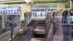Interior view of 800008 3X16 Reading Traincare Depot - Newport to form 3X06  Newport - Swansea crew training at Newport 22.09.2017 (6) (The Cwmbran Creature.) Tags: british rail train trains railway seat seats standard class iep iet gwr 800
