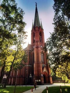 church during autumn walk