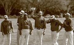 Vintage Baseball, Cantigny Park. 31 (EOS) (Mega-Magpie) Tags: canon eos 60d vintage baseball 1858 rules cantingy park wheaton dupage il illinois usa america sepia men players team sports man dude people person fella outdoors guy hat