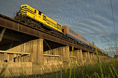 Sacramento Weir (ryanclark13) Tags: sacramento california weir sunset goldenlight nikon train railroad photo