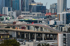 highway endangered list? (pbo31) Tags: sanfrancisco california city urban august 2017 summer boury pbo31 nikon d810 color lightstream motion roadway 280 highway overpass ramp soma salesforce 181fremont over view sunset potrerohill skyline construction gray