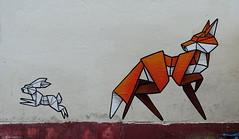 Annatomix (BE'N 59. Street photographer) Tags: lapin rabbit fox renard streetart streetartbristol artinbristol streets