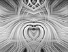 "Spiritual Twirl Art # 9 - ""Pine Tree Aura"" in monochrome. (FotoGrazio) Tags: topazadjust waynegrazio waynesgrazio abstract art avantgarde blackandwhite bliss composition contrast digitalphotography ecstacy fineart fotograzio meditation monochrome nirvana painterly pattern photoeffect photomanipulation phototoart phototopainting psychodelic spiritual surreal symmetrical symmetry texture twirlart"
