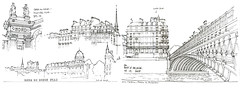 Paris, pont d'Arcole (gerard michel) Tags: france paris seine quai pont gare sketch croquis architecture