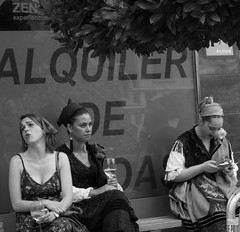 Sketches of Spain (MiguelHax) Tags: spain arriondas festival costume street bw wb blackandwhite monochrome expressions noiretblanc
