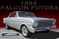 Fly Like A Falcon - 1964 Falcon Futura (Brad Harding Photography) Tags: ford fordmotorcompany falcon futura silver chrome redinterior bonnersprings kansas carshow tiblowdays 1964 64