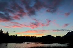 Good Morning Starshine (Spebak) Tags: spebak canon canondslr canon70d morning earlymorning sunrise skyonfire clouds bluesky trees foresst camping lake manzanitalake lassen lassenvolcanicnationalpark nature outdoors