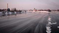 Ice Float (tniedzwiedz) Tags: poznan warta river ice float winter cold long exposure nd motion