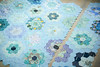 Adding some more rows (balu51) Tags: patchwork quilting sewing wip quilt hexagons hexies grandmothersflowergarden blue green teal turquoise purple september 2017 copyrightbybalu51