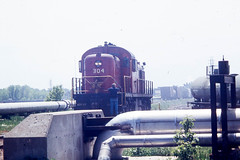 GB&W RS2 #304 at Wisconsin Rapids on 5-22-76 (LE_Irvin) Tags: gbw rs2 wisconsinrapids