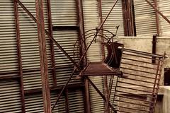 Climbing the Ladder (LookSharpImages) Tags: lime oregon limeoregon abandoned abandonedspaces
